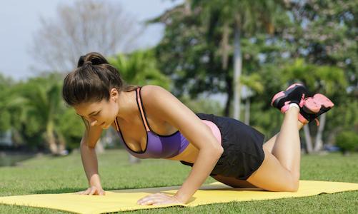push up on mat