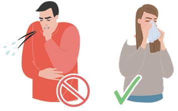 how to practice respiratory hygiene