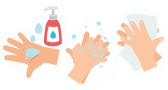 washing hands cartoon