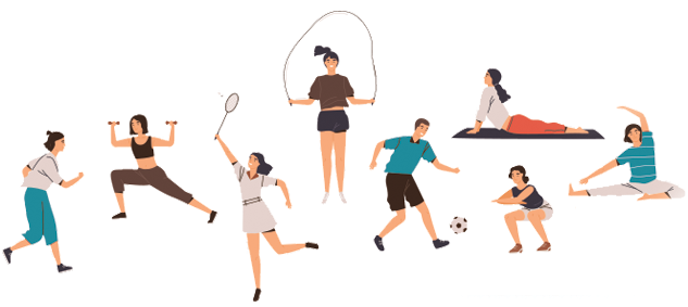 icons of people doing various sports